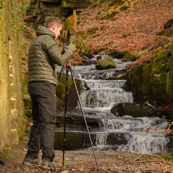 Photographer on a landscape photography course in Derbyshire © Chris James