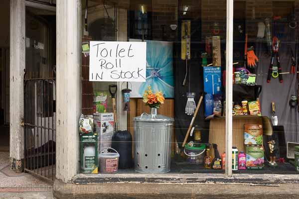 A shop window in Matlock, Derbyshire during the coronavirus pandemic. Photo © Chris James