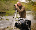An Olympus mirrorless compact system camera on a landscape photography course in Derbyshire. Photo © Chris James