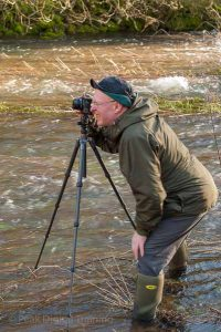 Photographing moving water on a Peak District landscape photography course. Photo © Chris James