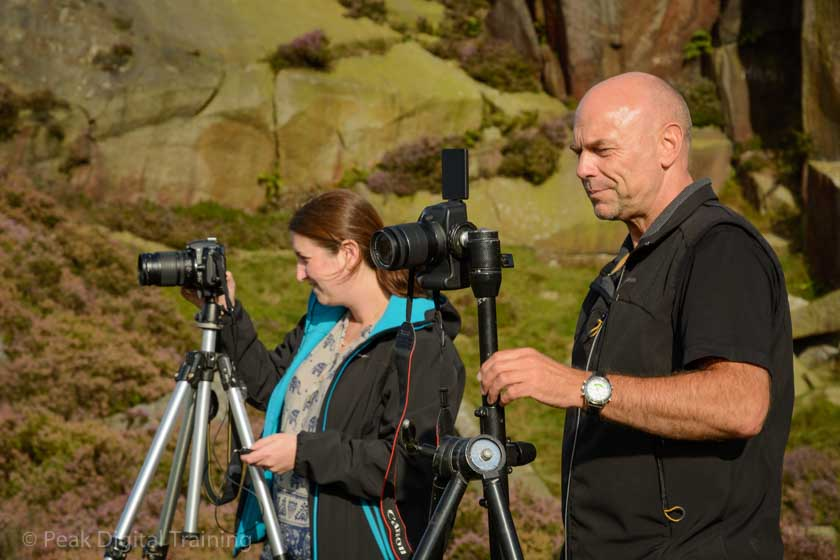 Beginners' photography course in the Peak District. Photo © Chris James