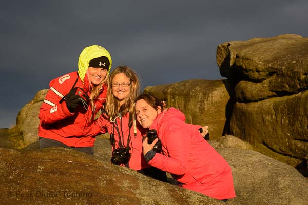 Photography course on moorland near Sheffield by Peak Digital Training. Photo © Chris James