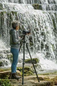 Photographing Monsal Wier on a Peak District photography course. Photo © Chris James