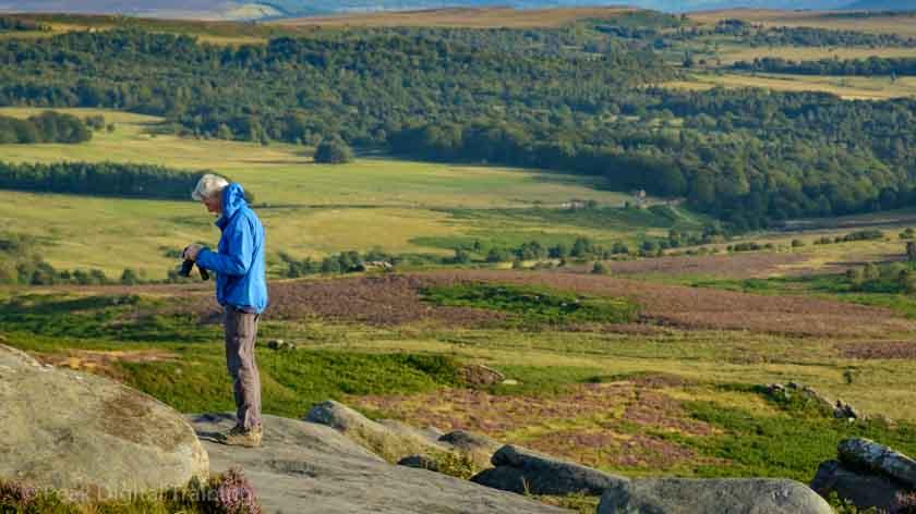 Landscape photography course on moors near Sheffield © Chris James
