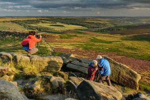 Landscape photography course on moorland near Sheffield. Photo © Chris James