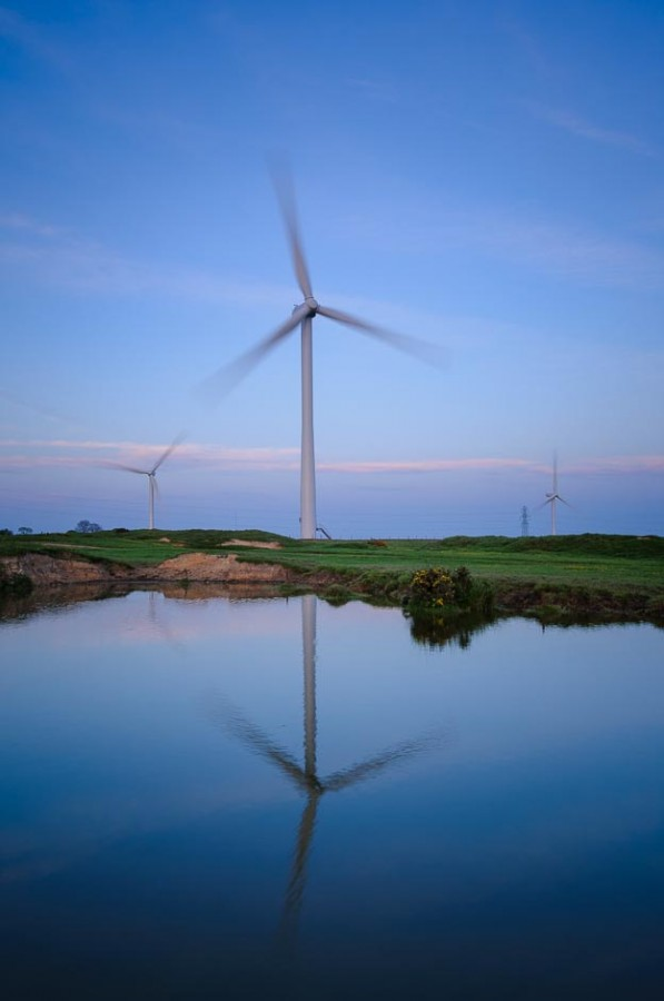 Wind turbines are one of the subjects for a landscape photography course in Derbysire being run by Peak Digital Training