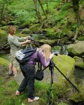 Photographing a stream on a photography course for beginners near Sheffield. Photo © Chris James