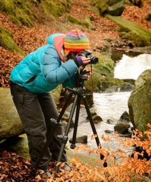 Photographing waterfalls on one of Peak Digital Training's photography courses for beginners near Sheffield.