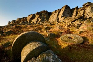 Millstones on moorland near Sheffield, where Peak Digital Training is running a beginners photography course. Photo © Chris James