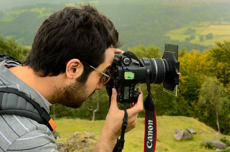 One to one photography training in the Derbyshire Peak District