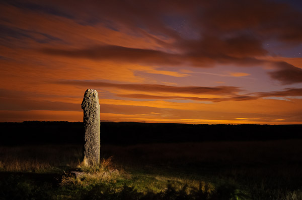 """A Peak District cross, """"painted"""" with light from a torch - light painting and night photography course by Peak Digital Training"""