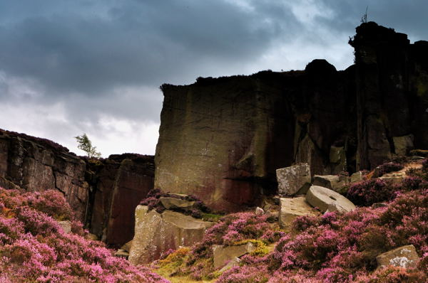 Burbage millstone quarry taken on a landscape photography course by Peak Digital Training