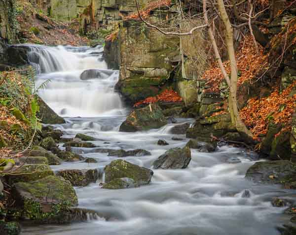 Waterfalls in a Derbyshire valley, where Peak Digital Training are running a landscape photography course. Photo © Chris James