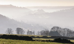 A misty morning in the Derwent Valley, Derbyshire. Photo © Chris James