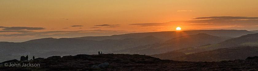 Sunset over the Peak District © John Jackson