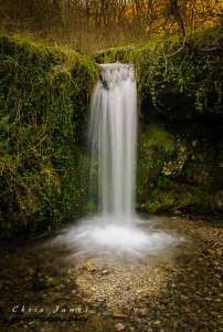 A waterfall in Lathkill Dale ©Chris James