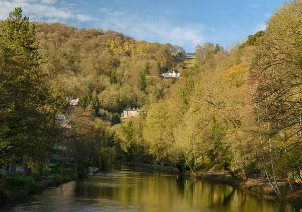 The River Derwent at Matlock Bath, Derbyshire, where Peak Digital Training is running digital photography training courses . Photo © Chris James.