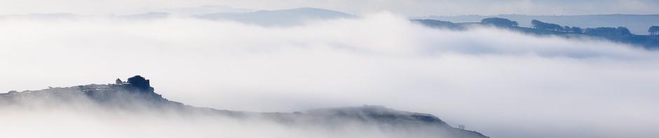 A misty landscape photograph of the Peak District © Chris James