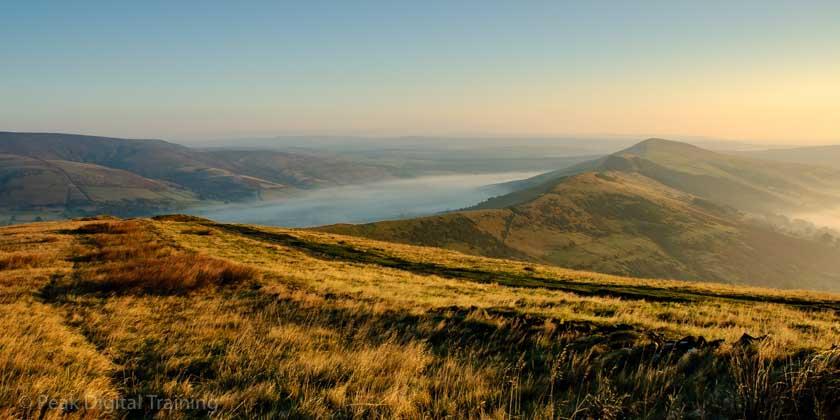 A misty dawn landscape in the Peak District © Chris James
