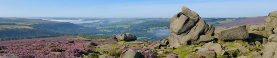 Heather moorland in the Peak District near Sheffield - the location for a landscape photography course run by Peak Digital Training
