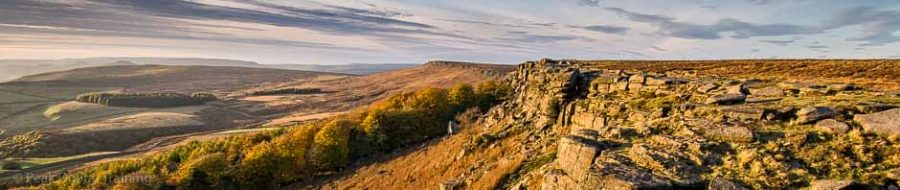 Stanage Edge in the Peak District. Photo © Chris James