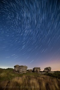 Star trails over the Peak District © Chris James