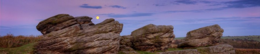 Moonrise over the Peak District - a night photography course by Peak Digital Training