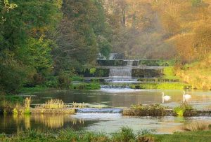 Weirs in Lathkill Dale in the Peak District. Photo © Chris James