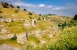 Limestone cliffs in Lathkill Dale in the Derbyshire Peak District. Photo © Chris James