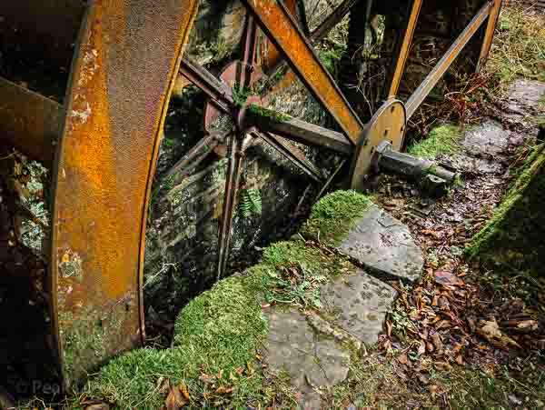 Water wheel at Peak District mill © Chris James