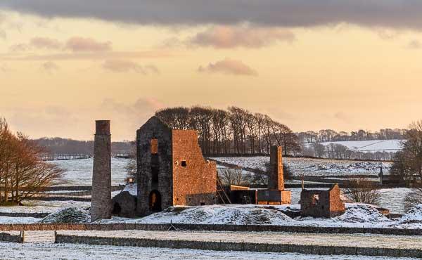 Derbyshire lead mine in winter © Chris James