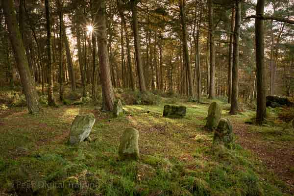 Peak District stone circle © Chris James