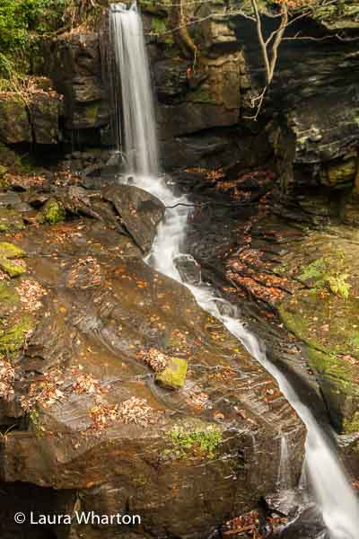 Waterfall in Derbyshire photographed on a landscape photography course © Laura Wharton