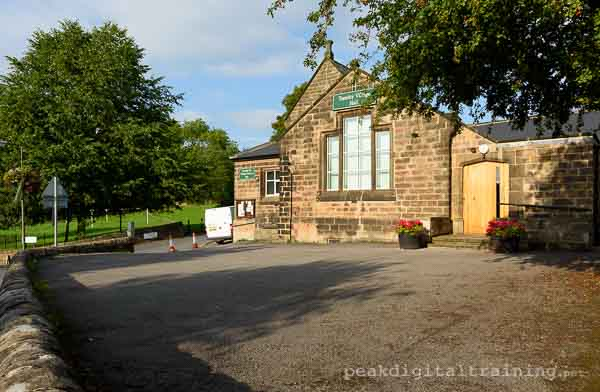 Photography courses in Tansley Village Hall, Derbyshire. Photo © Chris James