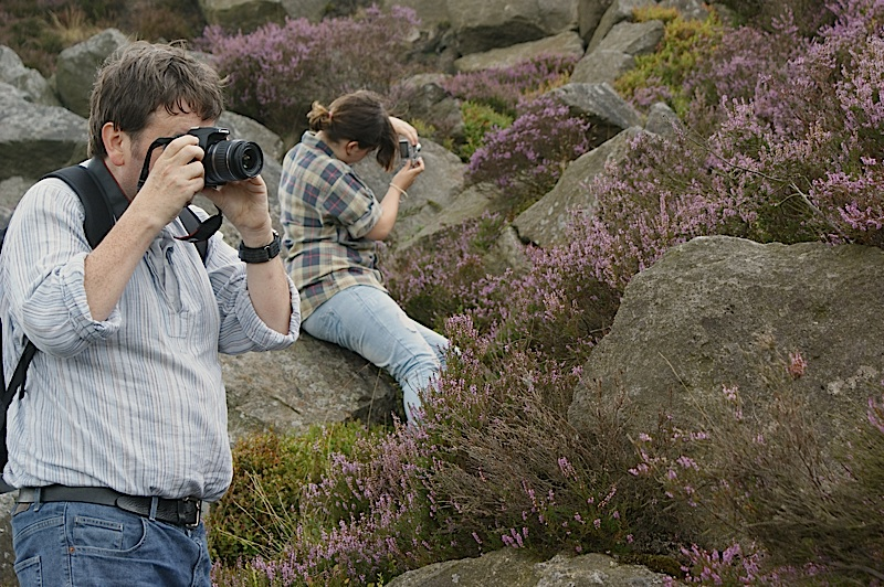 Photographing heather on a Peak District photography course
